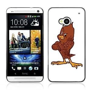 YOYOSHOP [Cool Bird Illustration] HTC One M7 Case Kimberly Kurzendoerfer