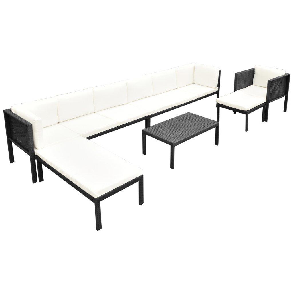 vidaXL 24tlg. Sofa Set Poly Rattan Sitzgruppe Lounge Gartenmöbel ...