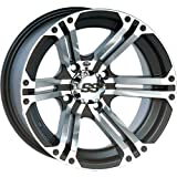 ITP SS ALLOY SS212 Black Wheel with Machined Finish (14x8''/4x156mm)
