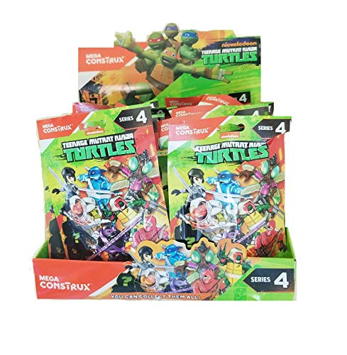 TMNT Teenage Mutant Ninja Turtles Series 4 Complete Case of 24 Blind Bag Action Figures Donatello Leonardo Raphael Michaelangelo Baxter Stockman Tiger Claw Karai Red Foot Soldier (Ninja Turtles Blind Box Set)