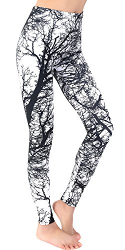 Ndoobiy Printed Leggings Basic Cheap Patterned Leggings Yoga Workout Leggings for Women Girls Spandex Leggings L2(Trunk OS)