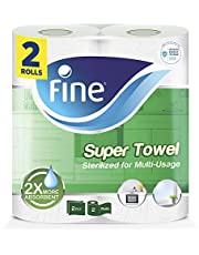 Fine Super Sterilized Paper Towel , 40 Sheets 2 Ply, Pack of 2 Rolls