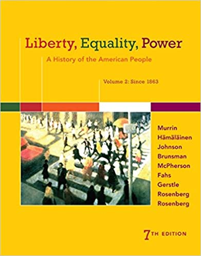 Amazon liberty equality power a history of the american liberty equality power a history of the american people volume 2 since 1863 7th edition fandeluxe Images