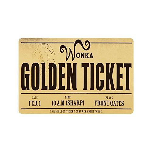 Custom Machine-washable Willy Wonka Golden Ticket Chocolate Bar 3 Door Mat Decorative Doormat Indoor/Outdoor Doormat 23.6