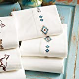 Black Forest Decor Embroidered Southwest Sheet Set - Full