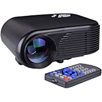 Mini LED 180 Lumens 30-100 Digital Projector w/ HDMI & USB Input - Black