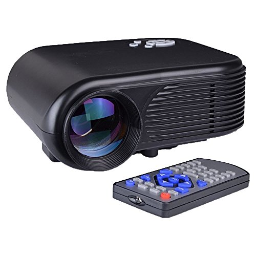 Mini LED 180 Lumens 30''-100'' Digital Projector w/HDMI & USB Input - Black by Generic