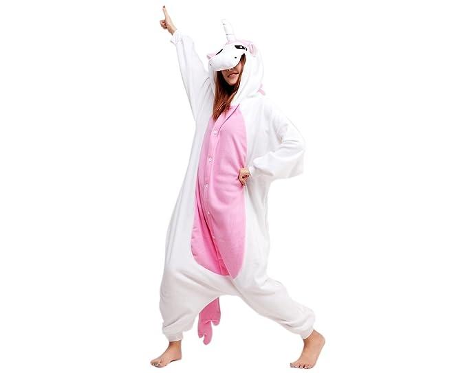DSstyles Pijamas Unicornio Pijamas de dibujos animados de dibujos animados Onesies de mujer Unisex Y capucha