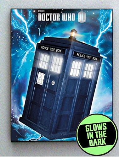 Dr. Doctor Who Tardis Glow In The Dark Framed Cool Art Movie Mini Poster (Mini Tardis)