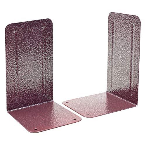 Acrimet Premium Metal Bookends Metallic Finishing (Heavy Duty) (Red Platinum) (1 Pair)