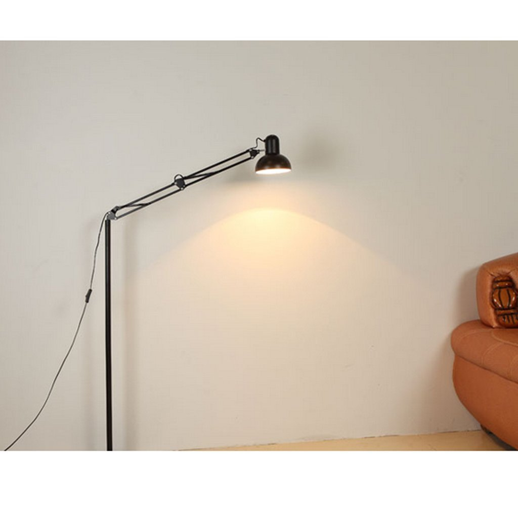 MOMO Stehlampe Modern Einfache Stehlampe Wohnzimmer Stehlampe Schlafzimmer Studie Lampe Kreative Lange Arm Vertikale Stehlampe Led Stehlampe by MOMO (Image #4)