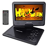 multimedia player portable - DBPOWER 9.5-Inch Portable DVD Player with Rechargeable Battery, SD Card Slot and USB Port - Black