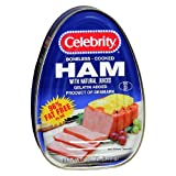Celebrity Boneless Cook Ham with Natural Juices 12 Ounces