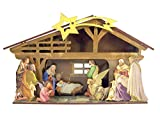Wooden Nativity of Christ Set Diorama with Assembly Guide, 5 1/4 Inch