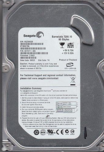 ST380215A, 9RX, TK, PN 9CY011-305, FW 3.AAD, Seagate 80GB IDE 3.5 Hard Drive ()