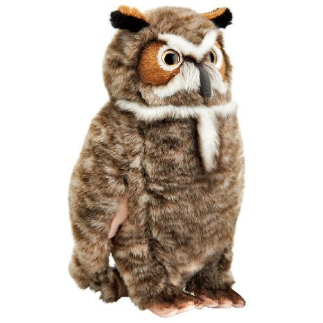 FAO Schwarz 15 inch Owl Plush - Brown and White