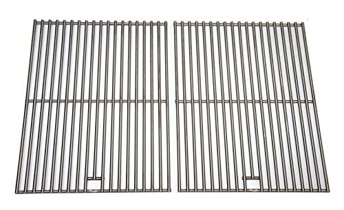 Hongso BBQ Solid 304 Stainless Steel Cooking Grid, Grill Grates Replacement for Master Forge 1010037, Nexgrill 720-0719BL, 720-0773, Charbroil, Kenmore, Tera Gear Gas Grill Models, SC1712(2-Pack)