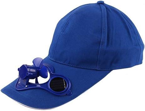 GLLGLT Gorras de Ventilador Solar, Gorras de Sol, Gorras de Pico de Pato, Gorras de béisbol, Gorras de Hombres y Mujeres, Viseras diarias al Aire Libre (Color : Azul, tamaño : One
