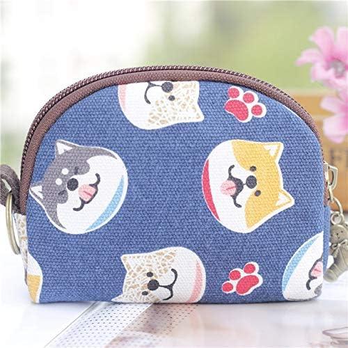 Color: D Gimax Coin Purses 2019 New Japanese Fashion Cute Cartoon Cat Wallet Key Bag Printing