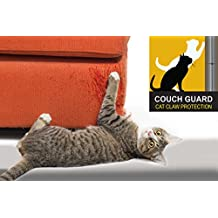 "COUCH GUARD UPHOLSTERY CAT CLAW PROTECTOR. INCLUDES 2 SELF-ADHESIVE PROTECTOTS 18"" Long x 8"" wide"
