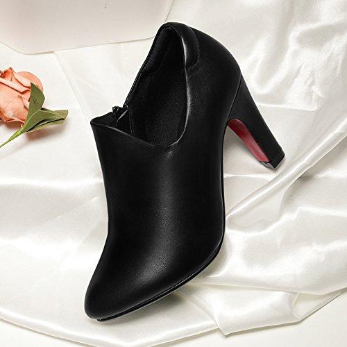 Nuevo Zapatos Primavera Fina KPHY En Todo De Las Tacones Punta Altos Black Lady Simple Con Mujeres Cuarenta Thirty La El Una De nine Partido EEIq0