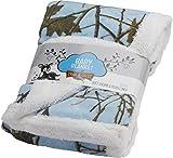 "Baby Sky Forest Soft Poly fleece Sherpa Blanket 30"" X 42"""