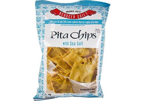 Trader Joe's Reduced Guilt Vegan Pita Chips with Sea Salt - 6 oz. (170g)