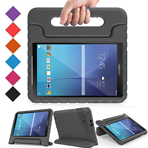 BMOUO Kids Case for Samsung Galaxy Tab E 9.6 - Shockproof Light Weight Protection Handle Stand Kids Case for Samsung Galaxy Tab E/Tab E Nook 9.6 Inch 2015 Tablet, Black