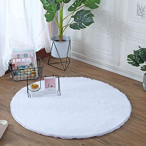 HLZHOU Soft Faux Rabbit Fur Chair Couch Cover Seat Pad Fluffy Bedside Area Rug