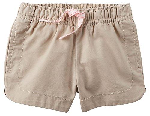 Carter's Girl Cinch-Up Twill Pull‑On Shorts; Khaki (Khaki Pull)