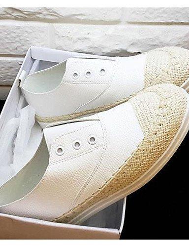 uk4 uk6 Zapatos white Negro eu39 Tacón us6 eu39 Redonda Plano cn39 cn36 us8 eu36 Mocasines Semicuero de ZQ Punta uk6 white Blanco us8 white mujer Casual cn39 4qvdxRBRw