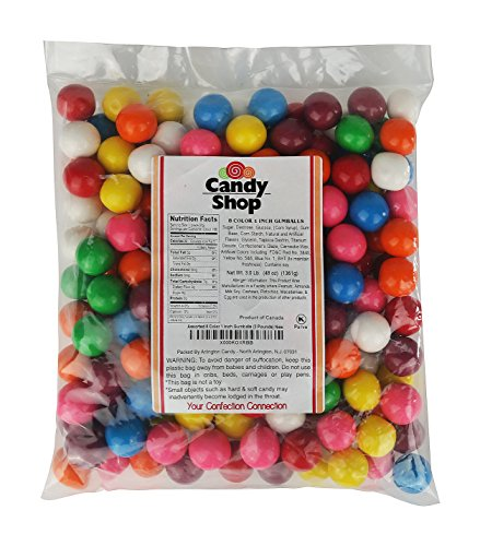 Candy Shop Assorted 8 Color 1 Inch Gumballs (3 -