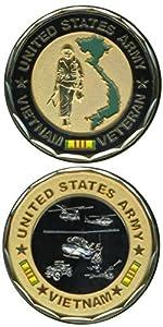 Army Vietnam Veteran Challenge Coin