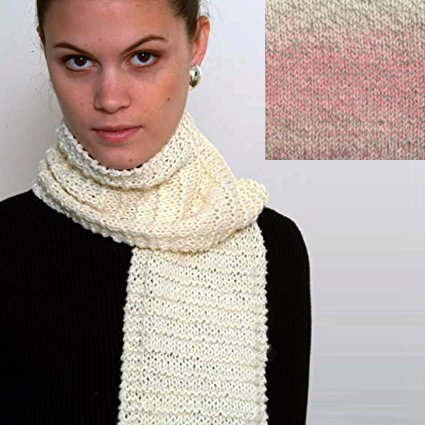 """Beginner's Scarf"" Knit Kit with Encore Worsted COLORSPUN Yarn – RASPBERRY DRIFT"