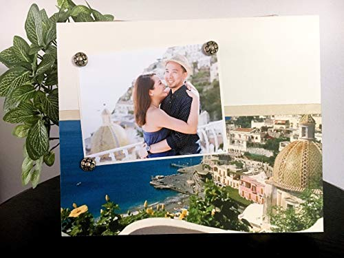 Positano Sorrento Pompeii Capri - Italy Vacation Travel Trip Getaway Honeymoon Magnetic Picture Frame Handmade Gift Present Home Decor Size 9 x 11 Holds 5 x 7 Photo