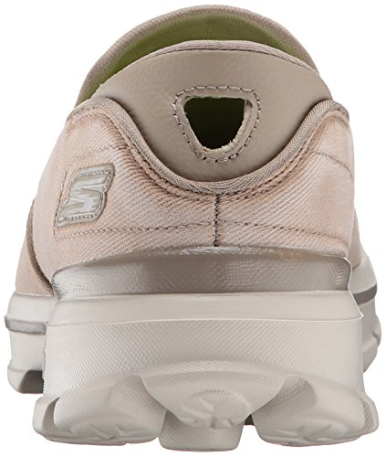Skechers Performance Mens Go Walk 3 Srotolare Slip-on Walking Shoe Stone