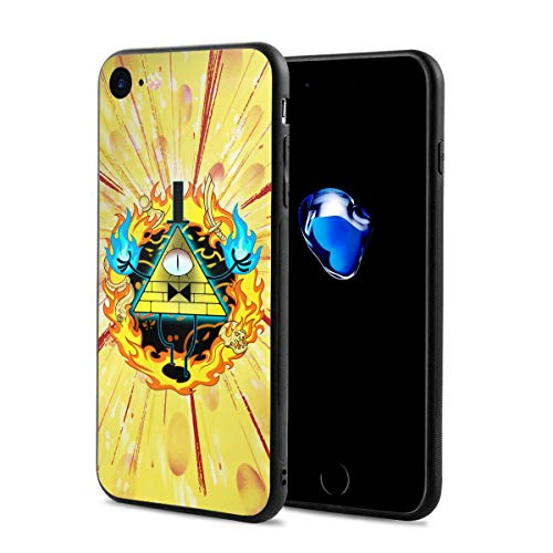 Gravity Falls Bill Cipher Anti-Scratch Shock Rubber Silicone Rugged Thin Cover Phone Case for iPhone 7/iPhone 8
