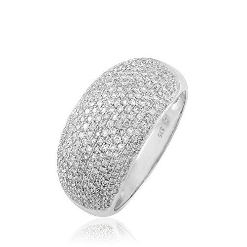 HISTOIRE D'OR - Bague Or et Diamants - Femme - Or blanc 375/1000