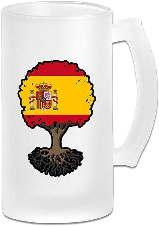 Árbol de la vida con la bandera de España Jarra de cerveza de ...