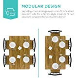 Best Choice Products 5-Piece Metal and Wood Indoor