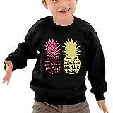 Puppylol Be A Pineapple Kids Classic Crew-neck Pullover Sweatshirt Black