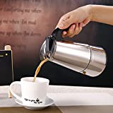 Bazaar 4 Cup 200ml Stainless Steel Moka Espresso Latte Percolator Stove Top Coffee Maker Pot