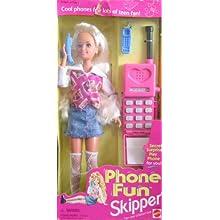 Barbie Phone Fun SKIPPER Doll w Secret Surprise Play Phone For YOU! (1995)
