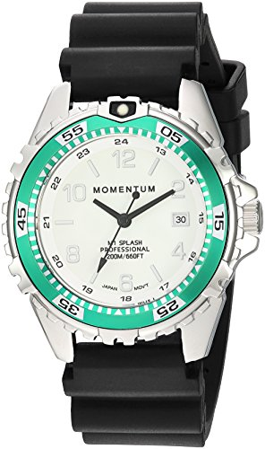 Women's Quartz Watch | M1 Splash by Momentum| Stainless Steel Watches for Women | Dive Watch with Japanese Movement & Analog Display | Water Resistant ladies watch with Date –Lume/Aqua Rubber