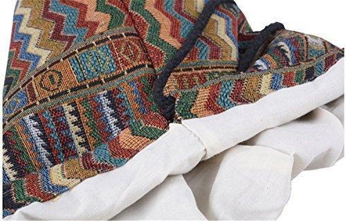 LAAT Drawstring Taschen Weinlese leichte mehrfarbige Geometrie Rucksack Beutel, Segeltuch-Rucksack für Schuljugend Jugendmädchen
