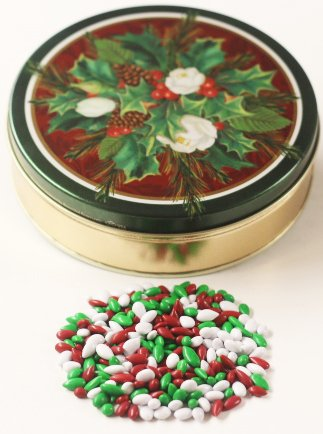 Scott's Cakes Christmas Mix Chocolate Covered Sunflower Seeds in a Mini Christmas Bouquet (Mini Bouquet Seed)