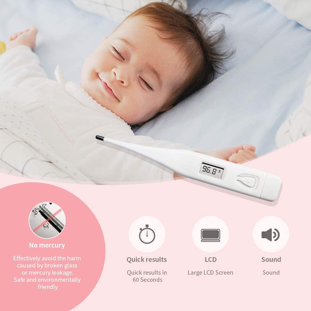 Digital Thermometer Oral, Sinocare Fever Thermometer for Adults, Basal Body Temperature Monitor, Electronic Axillary Underarm, Waterproof, Medical Rectal, Armpit Device - in Adults,Kids, Babies: Health & Personal Care