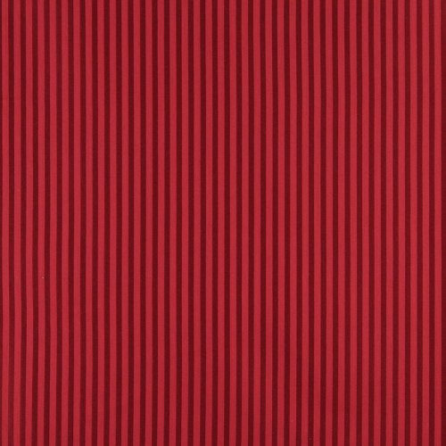 Ruby and Burgundy Small Stripe Contemporary Upholstery Fabric by the yard (Stripe Damask Upholstery)