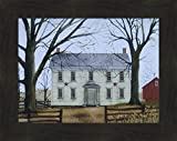 """Early American Home by Billy Jacobs 16x20 Americana Country House Primitive Folk Art Print Wall Décor Framed Picture (2"""" Espresso)"""