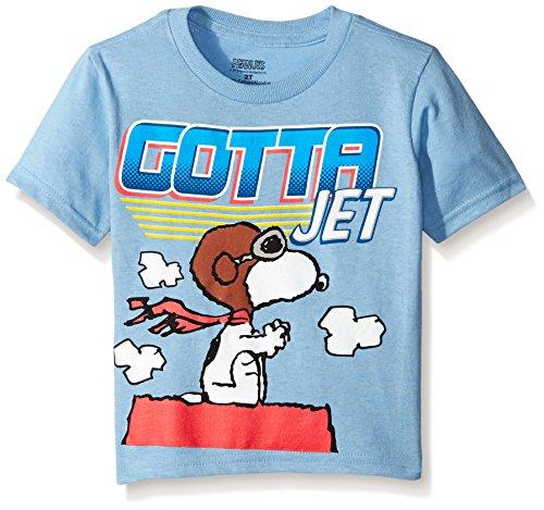 Peanuts Little Boys' Toddler Short Sleeve T-Shirt, Sky Blue, 4T